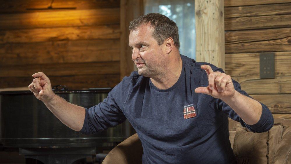 Radovan Vitek, actionnaire majoritaire des remontées mécaniques de Crans-Montana en interview chez lui à Crans-Montana. Sacha Bittel /Le Nouvelliste