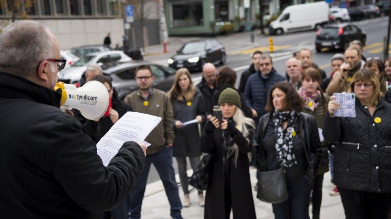 Presse romande: une quarantaine d'anciens employés du Matin se sont mobilisés à Lausanne