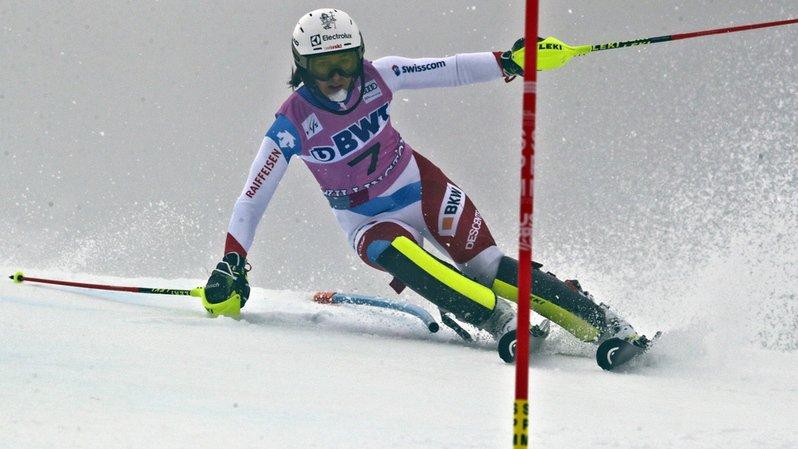 La skieuse d'Unteriberg a cédé du temps tout au long du parcours.