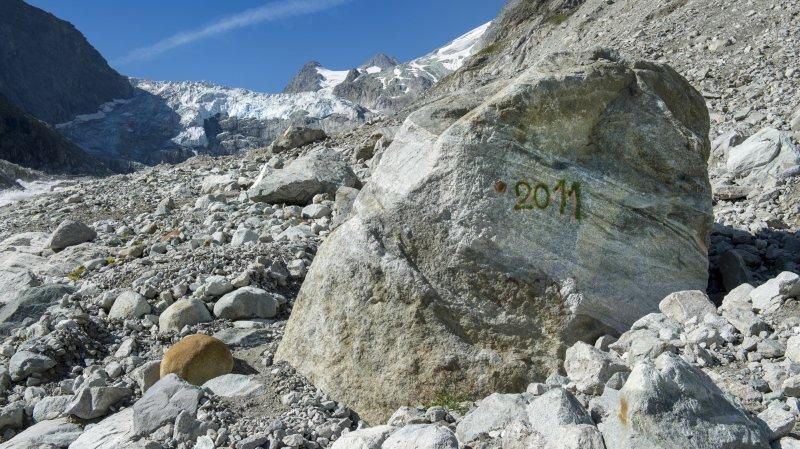 L'effet des changements climatiques se voit sur l'état nos glaciers.
