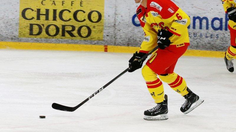 Louis Benoist, joueur du HC Sierre.