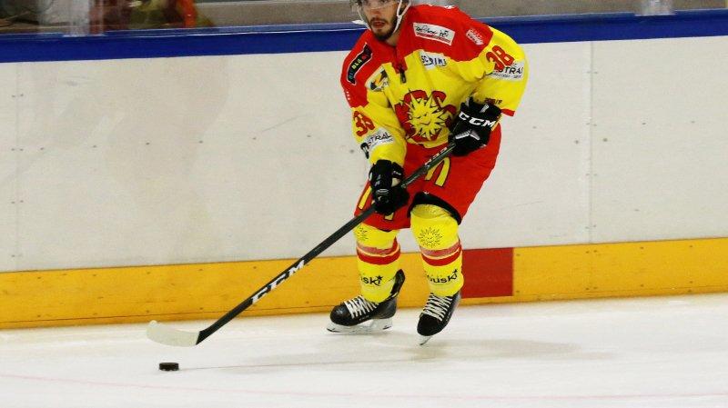 Yoann Massimino, joueur du HC Sierre.
