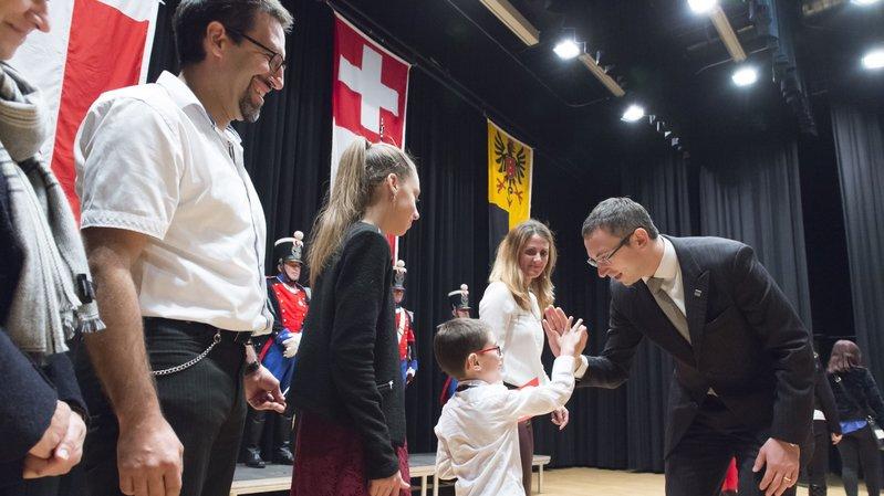 La cérémonie d'assermentation des nouveaux Valaisans a été présidée par Frédéric Favre.