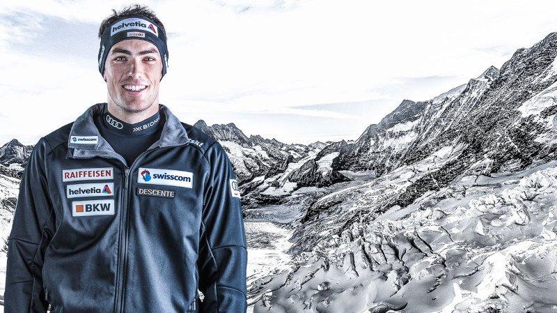 Les skieurs valaisans Daniel Yule, Ramon Zenhäusern et Luca Aerni soignent les détails