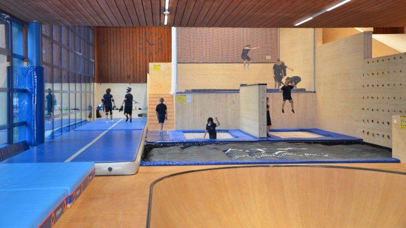 Le Valais dispose d'une nouvelle halle pour les futures stars des sports de neige