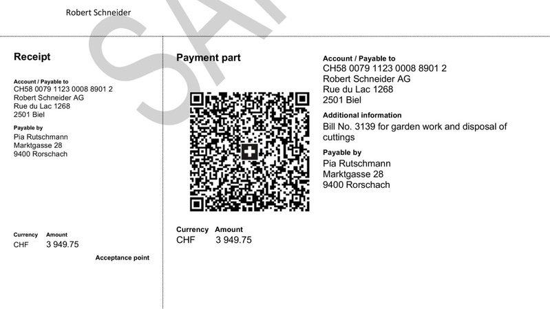 Dès juin 2020, il n'y aura plus qu'un seul bulletin de versement, blanc, équipé d'un QR code à scanner