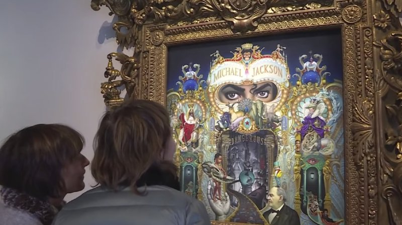 L'exposition permet de découvrir le roi de la pop à travers les oeuvres d'artistes contemporains.
