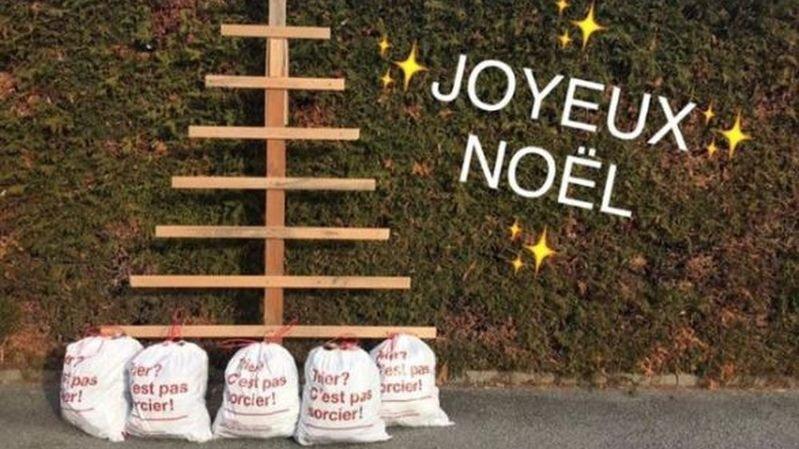 Les déchets sauvages serviront à «décorer» un sapin de Noël bien particulier.
