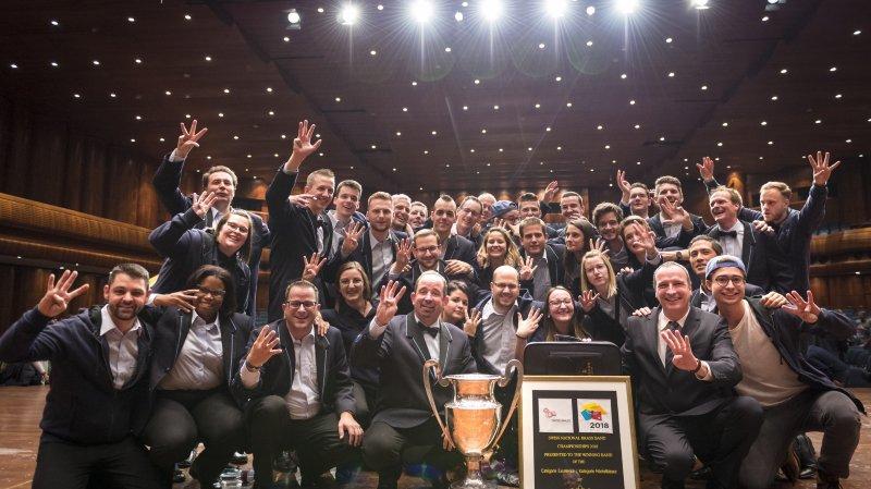 Le Valaisia a remporté dimanche son 4e titre consécutif de champion suisse des brass bands