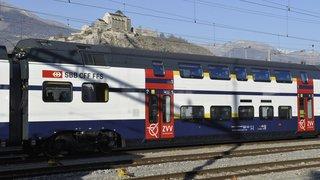 Les trains à deux étages en Valais dès le 9 décembre
