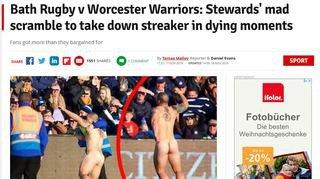 Complètement nu, un Bas-Valaisan interrompt un match de rugby en Angleterre