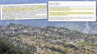 Valais: Helvetia Nostra poursuit sa lutte contre les volets fermés