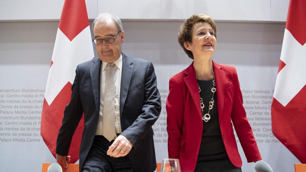 Conseil fédéral: les partis satisfaits de la nouvelle répartition des départements