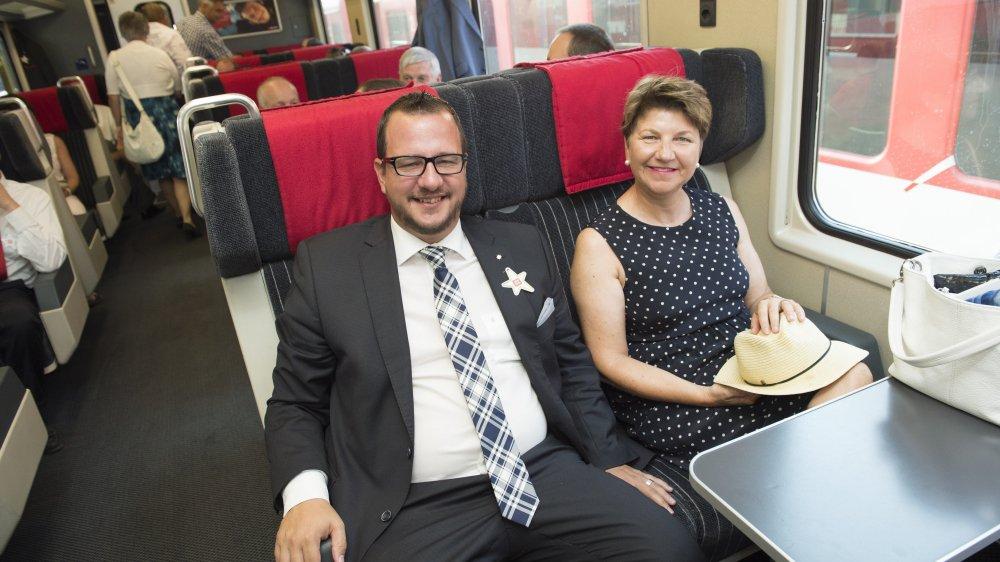 Philipp Matthias Bregy prendra désormais plus souvent le train que Viola Amherd.