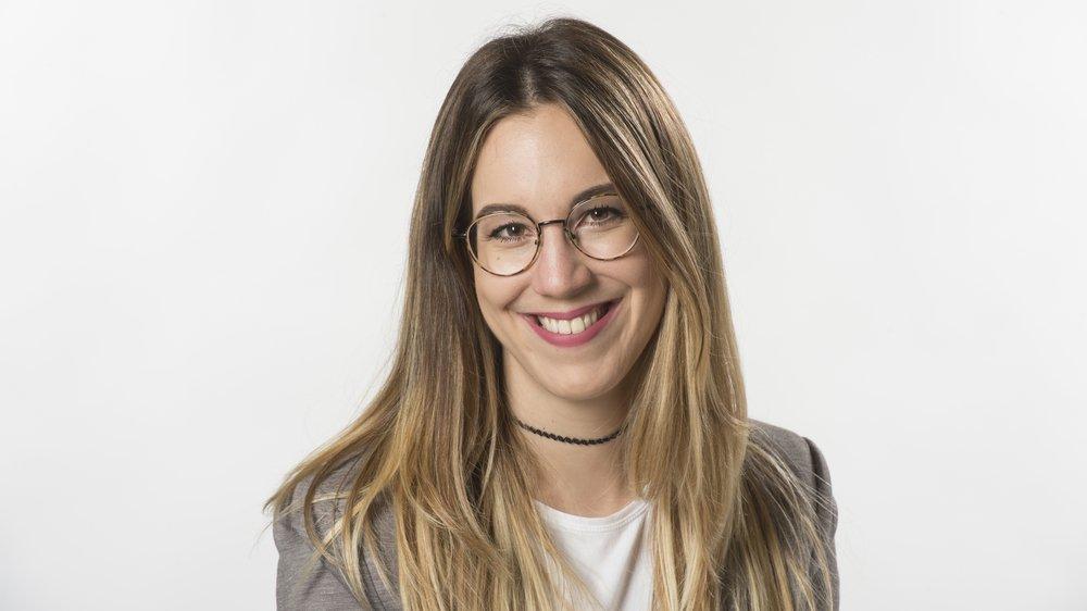 """Agathe Seppey, journaliste au """"Nouvelliste""""."""