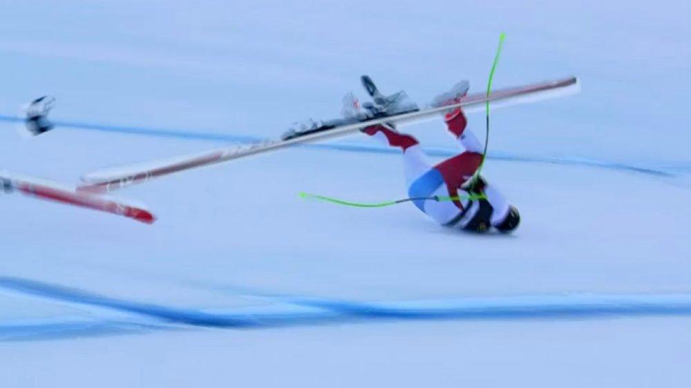 Ski alpin: lourde chute de Marc Gisin lors de la descente de Val