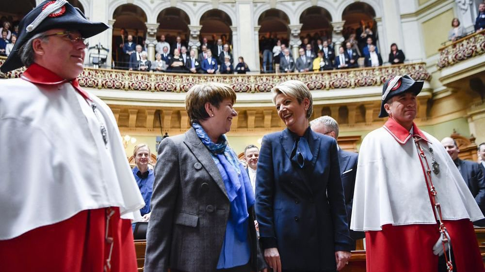 Viola Amherd et Karin Keller-Sutter, une élection à l'unisson.