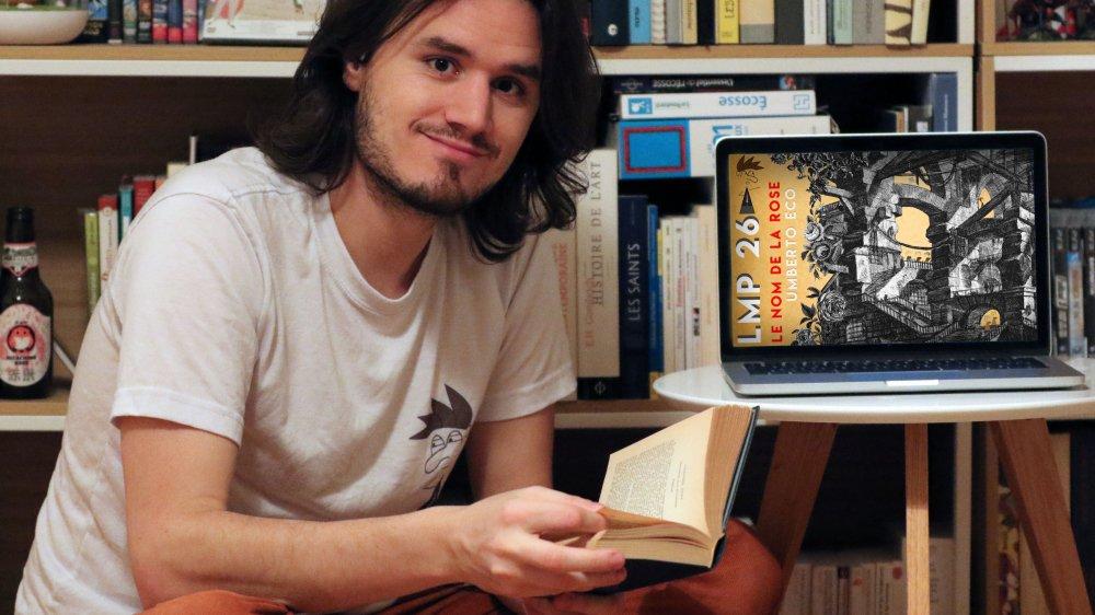 Jordi Gabioud, à travers YouTube, partage sa passion de littérature de manière ludique.