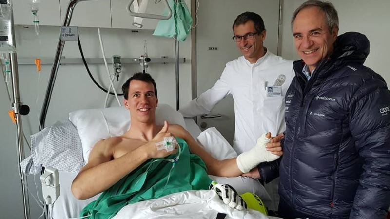 Ski alpin: blessé au pouce, le Valaisan Ramon Zenhäusern a été opéré avec succès