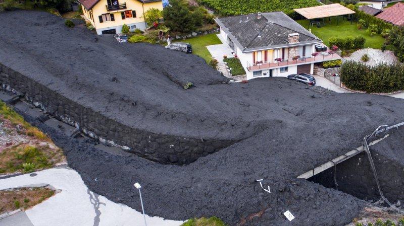 Le 7 août 2018, 20'000 mètres cubes de boue avaient déferlé sur Chamoson.