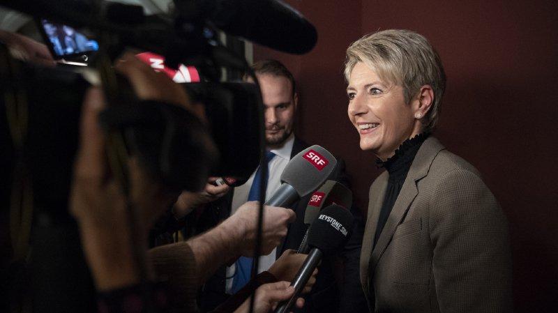 Élection au Conseil fédéral: Karin Keller-Sutter grande favorite PLR, Viola Amherd en tête chez les PDC