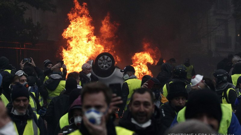 """France - """"Gilets jaunes"""": près de 90'000 policiers mobilisés ce samedi"""