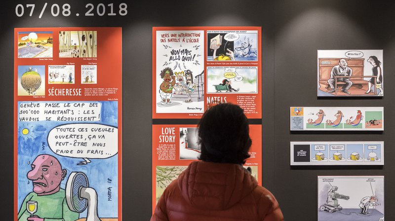 Dessins de presse: rétrospective des temps forts de l'année 2018 à Morges (VD)