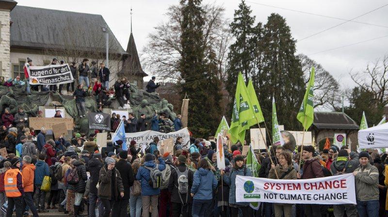 Les manifestants ont répondu à l'appel de l'Alliance pour le climat.
