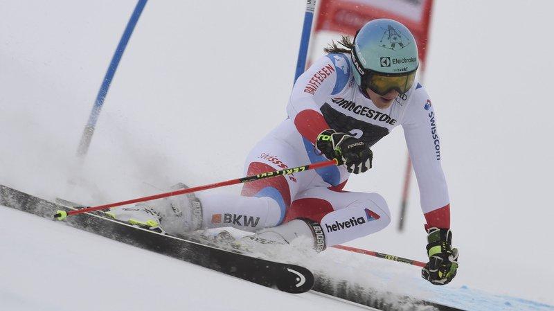 Ski alpin: les Suissesses larguées lors de la première manche du géant de Courchevel remportée par l'Allemande Rebensburg