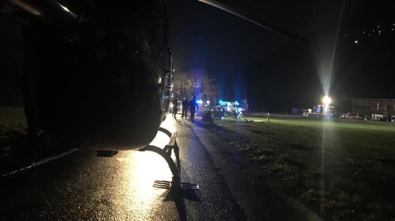 L'accident a eu lieu samedi soir vers 23h30 sur la route d'Epinassey, en direction de Saint-Maurice.