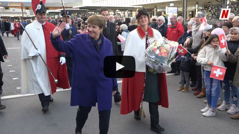 Viola Amherd au Conseil fédéral: l'accueil chaleureux de la capitale valaisanne