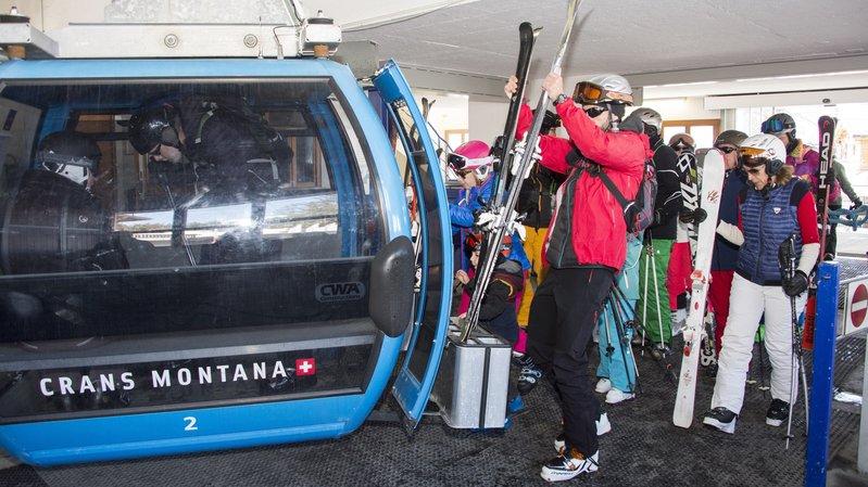 Le domaine skiable est partiellement ouvert.