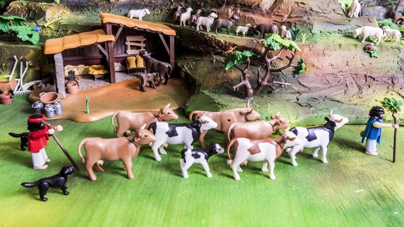 Une crèche en Playmobil plus vraie que nature à découvrir à Martigny-Croix.