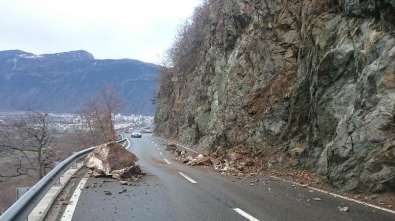 Éboulement sur la route de Salvan: le trafic a été rétabli