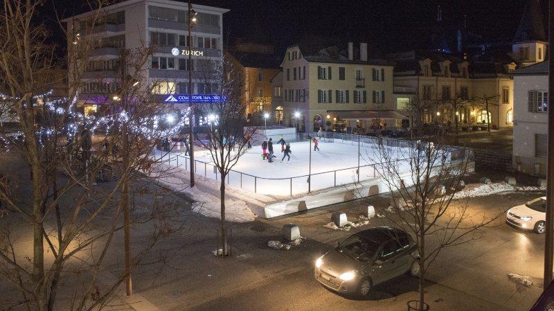 La patinoire sera installée cet hiver sur la place du Cheval.