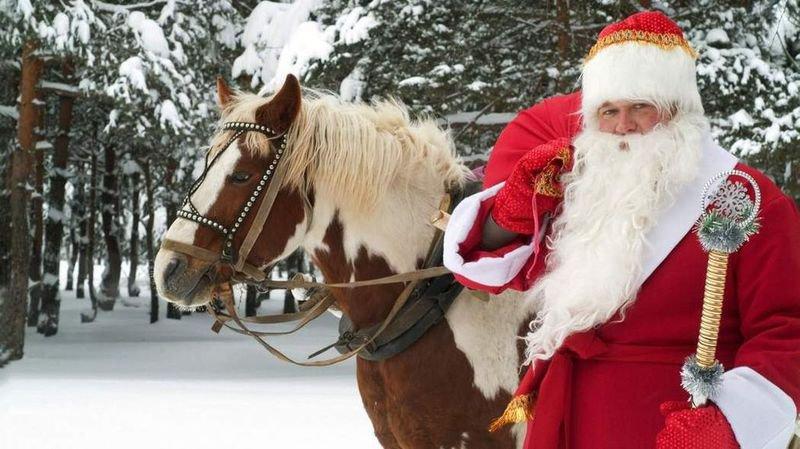 Dimanche, le père Noël s'invite au ranch de Morgins.