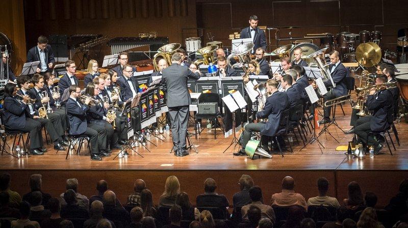 Le Valaisia Brass Band, ici à Montreux lors de son 4e titre consécutif de champion suisse, a été désigné meilleur ensemble de l'année 2018 au niveau international.