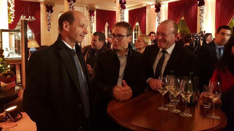 Beat Rieder, Philippe Nantermod et Jean-Luc Addor à l'heure du débriefing des auditions de l'après-midi.