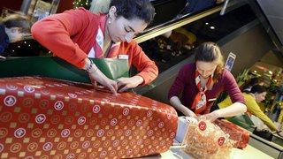 Les Suisses dépenseront en moyenne 310 francs pour leurs achats de Noël