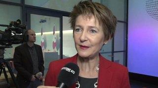 Conseil fédéral: réaction de Simonetta Sommaruga sur la reprise du DETEC