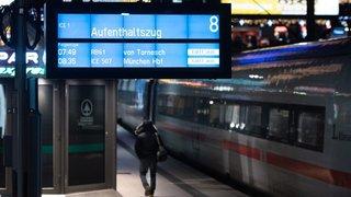 Allemagne: le trafic ferroviaire paralysé lundi matin en raison de la grève des cheminots