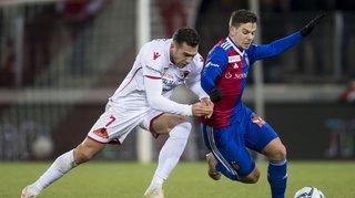 Super League: le FC Sion n'y arrive toujours pas contre Bâle et s'incline