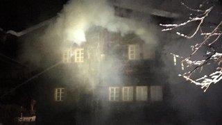 Une maison d'habitation détruite par le feu à Blitzingen