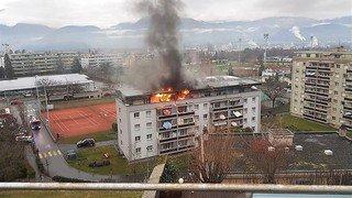 Incendie à Monthey: pas de blessé