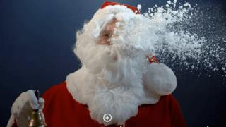 Le père Noël se prépare à passer ses vacances à Thyon 2000