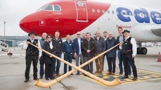 Val d'Anniviers: la compagnie Edelweiss baptise son dernier Airbus du nom de «Sorebois»
