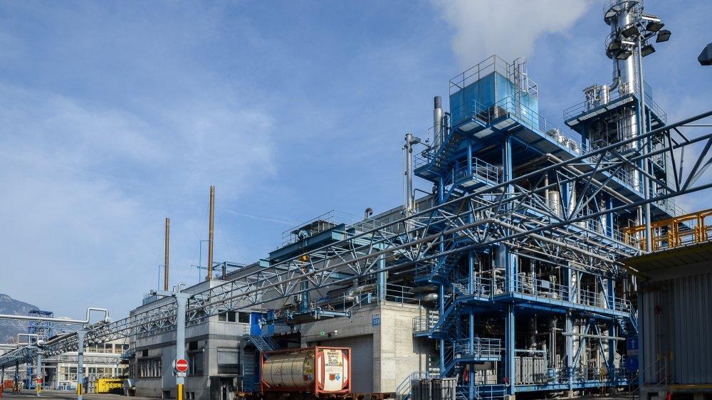 BASF possède deux bâtiments de production de pigments sur le site de Monthey, l'un consacré au rouge, l'autre dédié au jaune.