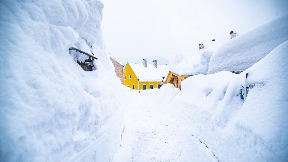 L'Autriche croule sous la neige