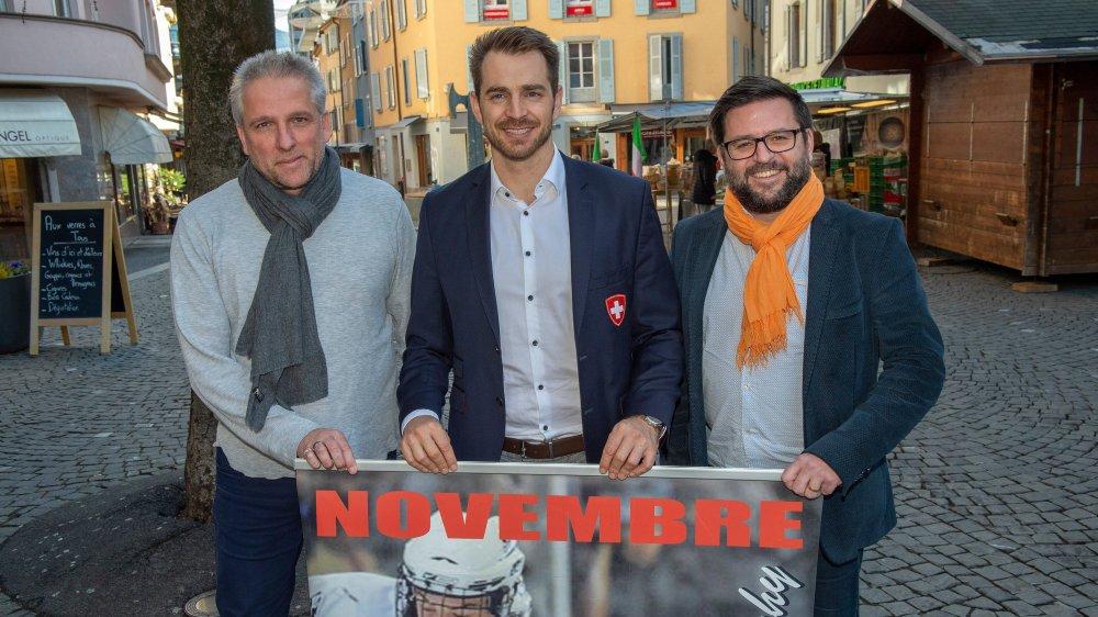 Marc-Anthony Anner, président actuel, Raeto Raffainer, délégué des équipes nationales, et Cédric Borboën, directeur de Global Events, collaboreront étroitement dès cette année.