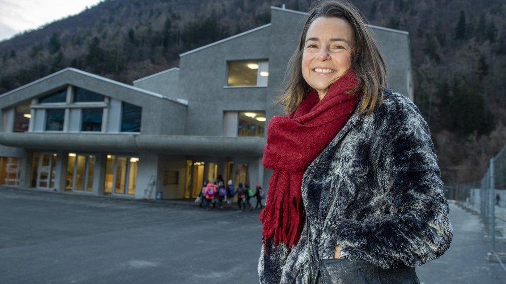 Pour Florence Carron Darbellay, présidente de Martigny-Combe, la fin des travaux est un soulagement. Tous les élèves ont pu reprendre l'école dans le nouveau bâtiment ce lundi matin.